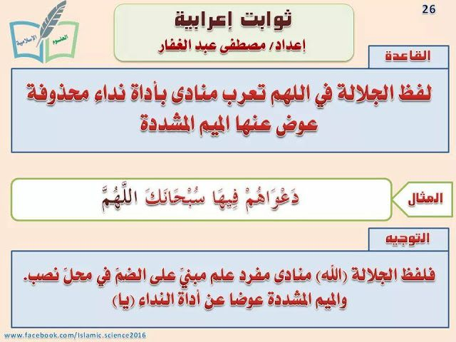 ثوابت إعرابية لا غنى عنها لأي طالب علم صور وتحميل Pdf Learn Arabic Language Learning Arabic Words