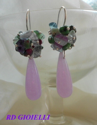 Jade and Fliorite Earrings
