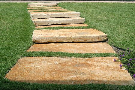 Natural patio stone walkway gardening and outside for Natural stone walkways