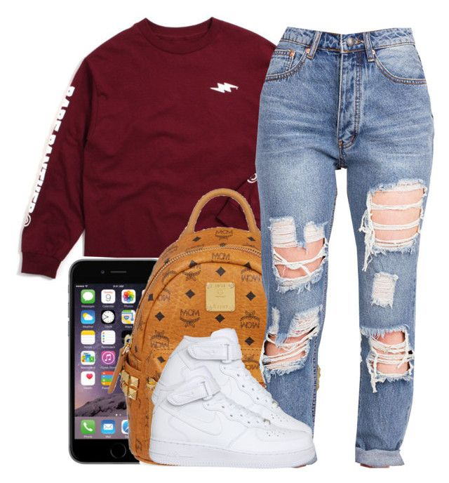 January 24th by jazmine-thegreat on Polyvore featuring polyvore fashion style NIKE MCM clothing