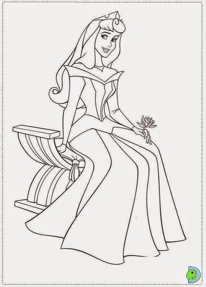 Desenhos De A Bela Adormecida Princesa Aurora Para Colorir Em
