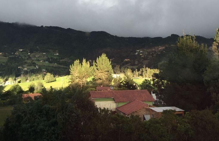 Sunset in La Calera. rainy day!!