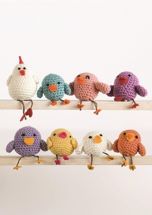 Die kleine Hühnerfamilie ist ganz fix selbst gehäkelt - Anleitung via Makerist.de