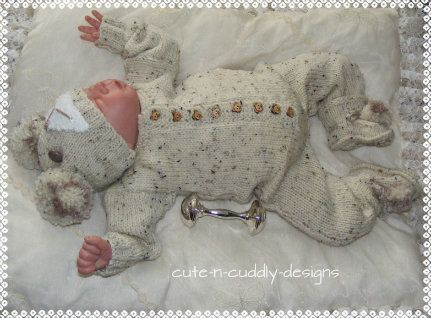 Baby bear knitting pattern available from   http://www.cute-n-cuddly-designs.com