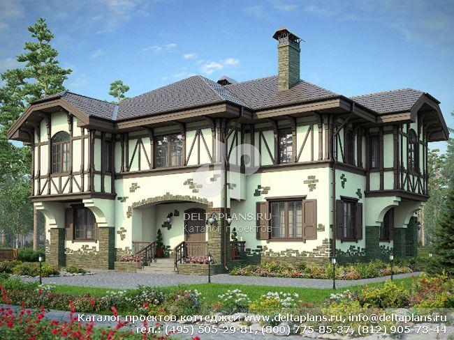 Проект загородного дома в немецком стиле № M-301-1K [M175 (36-42)]