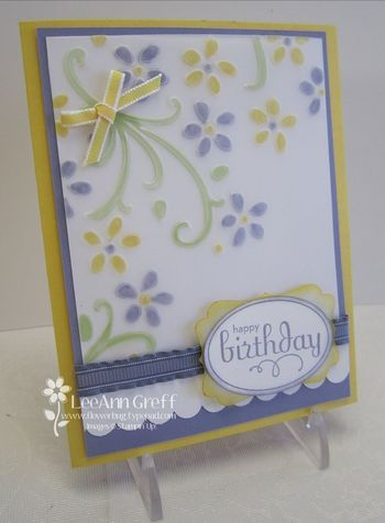 emboss vellum and color back - cool technique