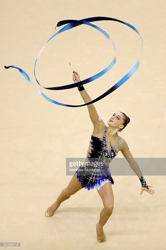 Ekaterina Volkova of Finland competes during the Rhythmic Gymnastics Individual All-Around final at the Final Gymnastics Qualifier - Aquece Rio Test Event for the Rio 2016 Olympics - Day 6 at the Rio Olympic Arena on April 22, 2016 in Rio de Janeiro, Brazil.