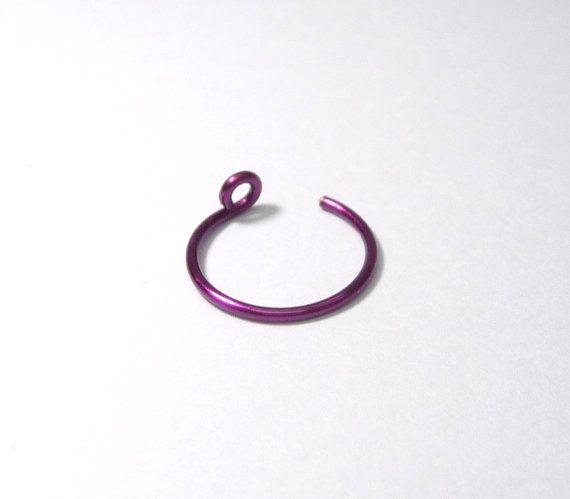Fake piercing clip on fake nose ring fake lip ring by artstudio88