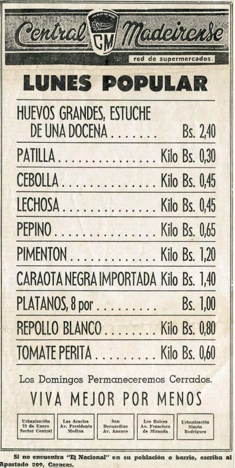 Retro publicidad de central madeirense a os 50 venezuela - Electrodomesticos retro ...