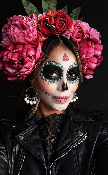 """Die Figur """"La Catrina"""" kommt eigentlich aus Mexiko – als Kostüm ist sie nicht nur cool, sondern auch ziemlich fashionable."""