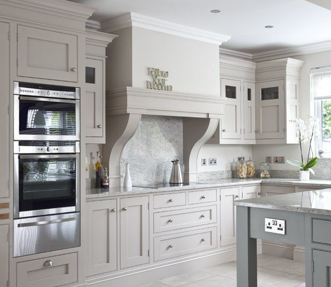 Hayburn architectural portfolio interiors kitchens for Grey green kitchen cabinets