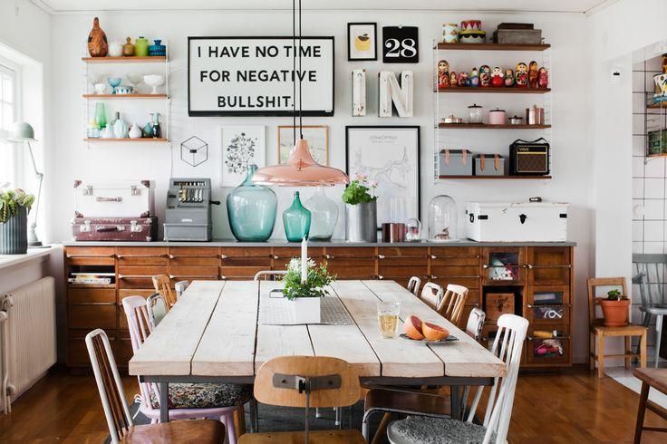 Köksinspiration: helkaklade väggar sätter den industriella stilen – Sköna hem