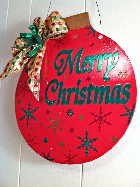 92 best Christmas door hangers images on Pinterest  Christmas
