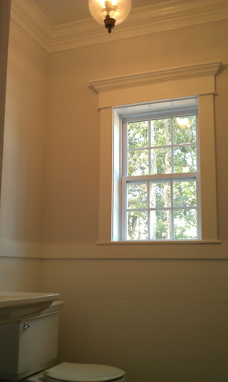 Window sill and casing beadboard window pediment casing painting - Window Trim In Nursery Complete Beadboard On Walls And Ceiling