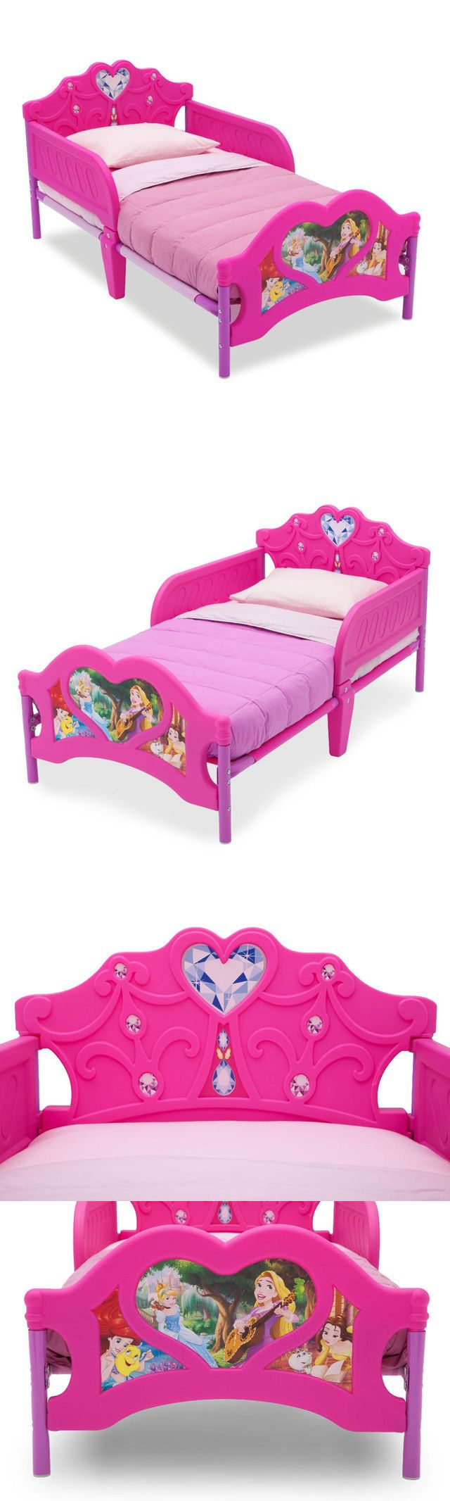 Other Nursery Bedding 20421: Disney Princess Toddler Bed Delta Furniture 3D Junior Cot Crib Size Girls -> BUY IT NOW ONLY: $109 on eBay!
