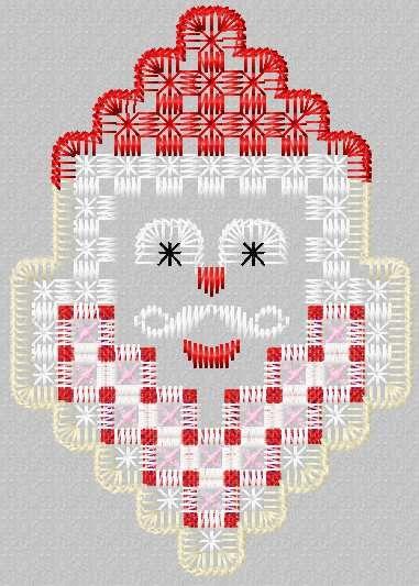 Santa Claus hardanger free embroidery design 1 - Christmas free embroidery - Machine embroidery forum