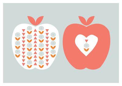 Scandi Apples Art Print by Hello Olive