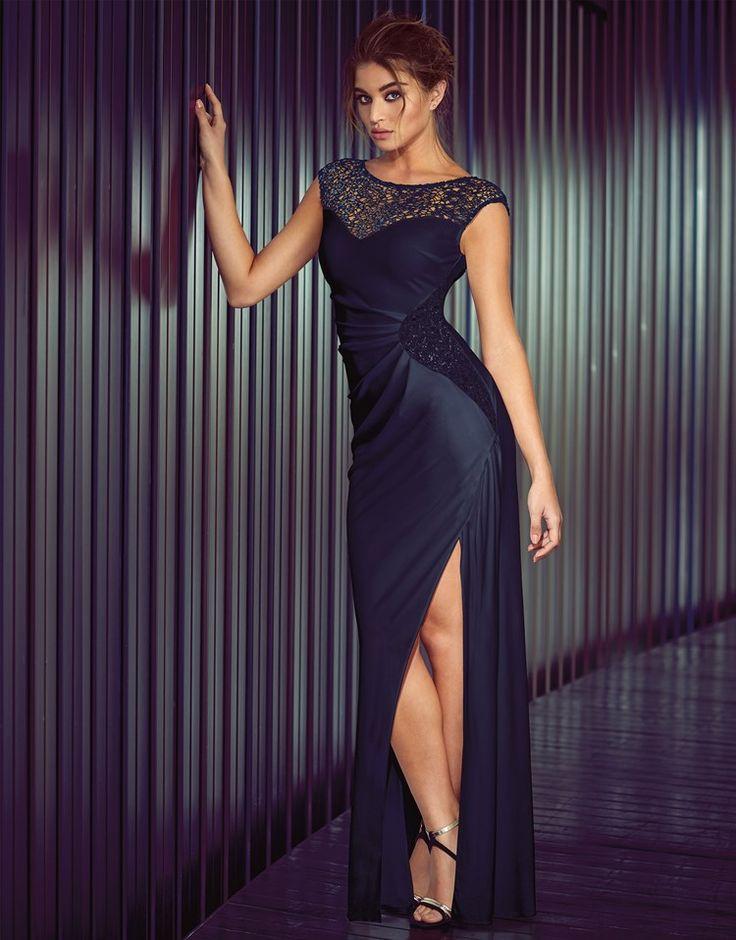 Lipsy Side Lace Detail Maxi Dress