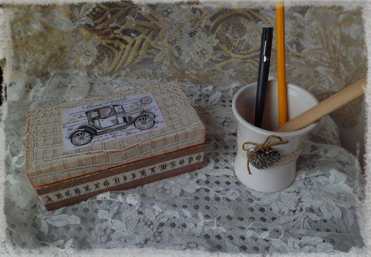 Boîte en bois multi usages vintage