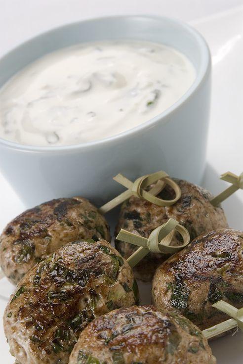 Chicken Kofta with Mint Yoghourt: Recipe courtesy of Jalna