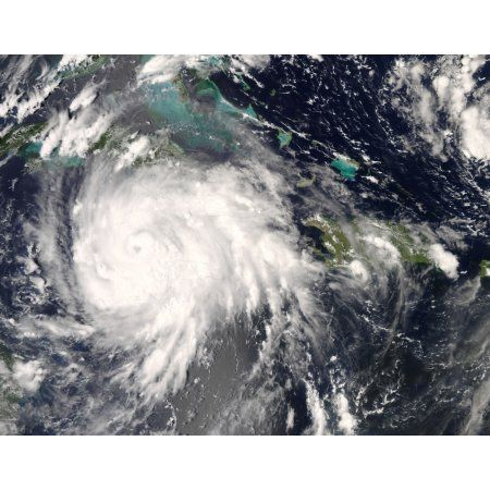 Hurricane Gustav over Jamaica Canvas Art - Stocktrek Images (32 x 25)