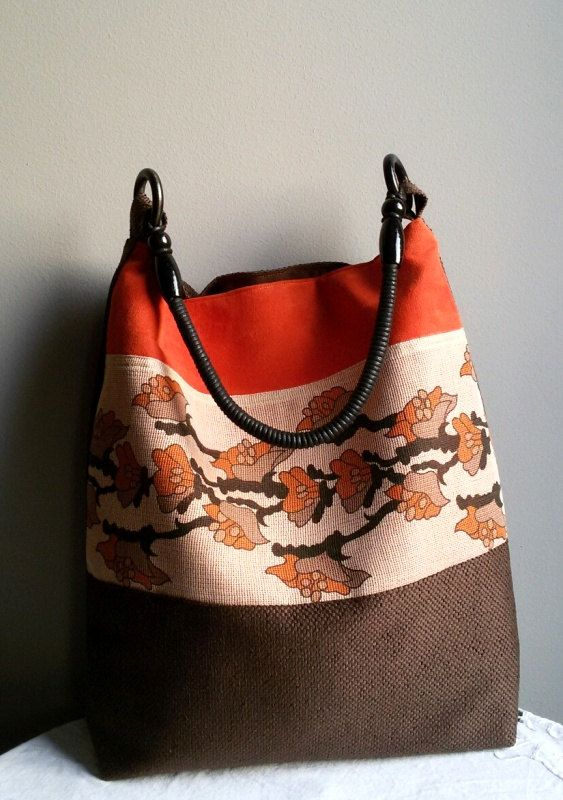 women's handbags shoulder bag big bag city bag brown by IrisBags