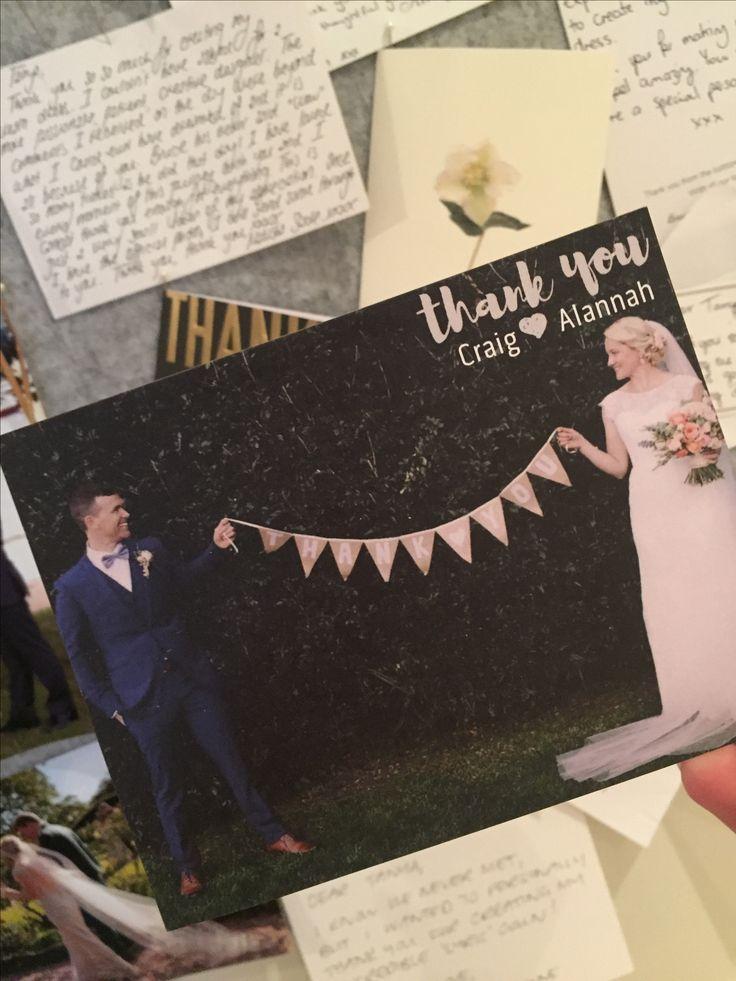 Thank you card from #realbride #wedding #brideandgroom