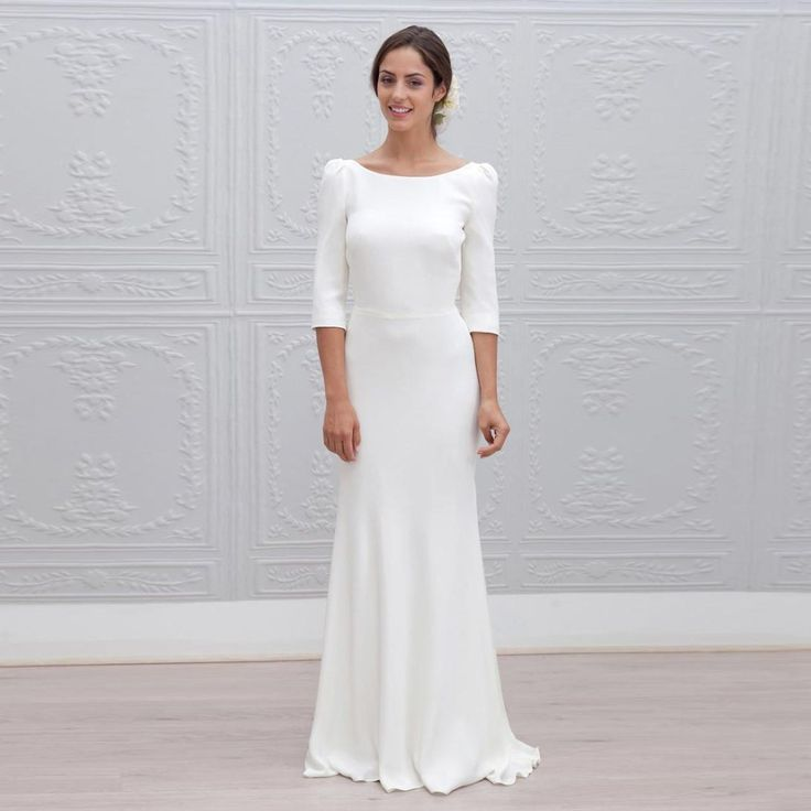Elegant-Long-Sheath-Bridesmaid-Dresses-Sleeve-Backless-
