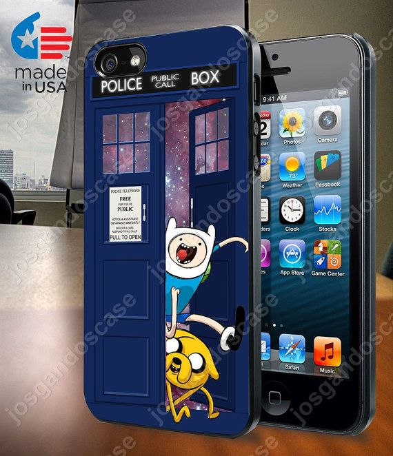 Adventure Time Jake Finn In Dr Who Tardis Call by josgandoscase, $14.79