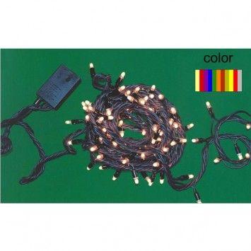 Microlámparas multicolor LED 7 m. (interior).Microlámparas para interior. Guirnalda decorativa con 140 microlámparas LED transparentes con controlador multiefectos. Especial para iluminación navideña y decoración de árboles de navidad o salones. Mínimo consumo. Longitud de cable 7 metros.