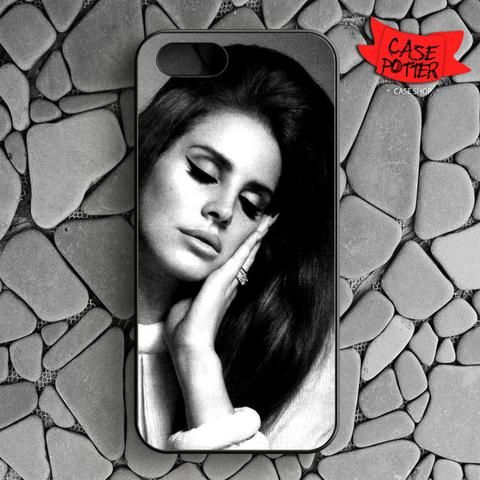 Close Eye Lana Del Rey iPhone SE Black Case