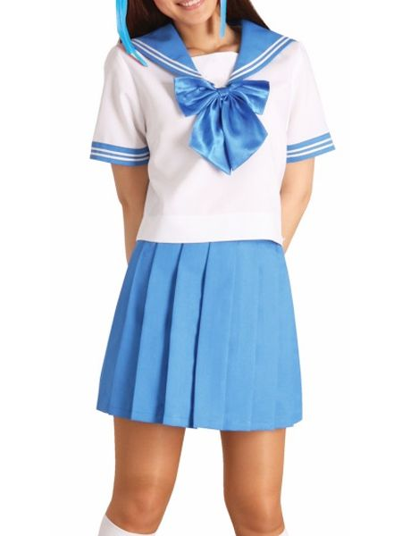 Blue Bowknot Short Sleeves School Uniform Cosplay Costume #Everyone Can Cosplay! Cosplay costumes #Anime Cosplay Accessories #Cosplay Wigs #Anime Cosplay masks #Anime Cosplay makeup #Sexy costumes #Cosplay Costumes for Sale #Cosplay Costume Stores #Naruto Cosplay Costume #Final Fantasy Cosplay #buy cosplay #video game costumes #naruto costumes #halloween costumes #bleach costumes #anime