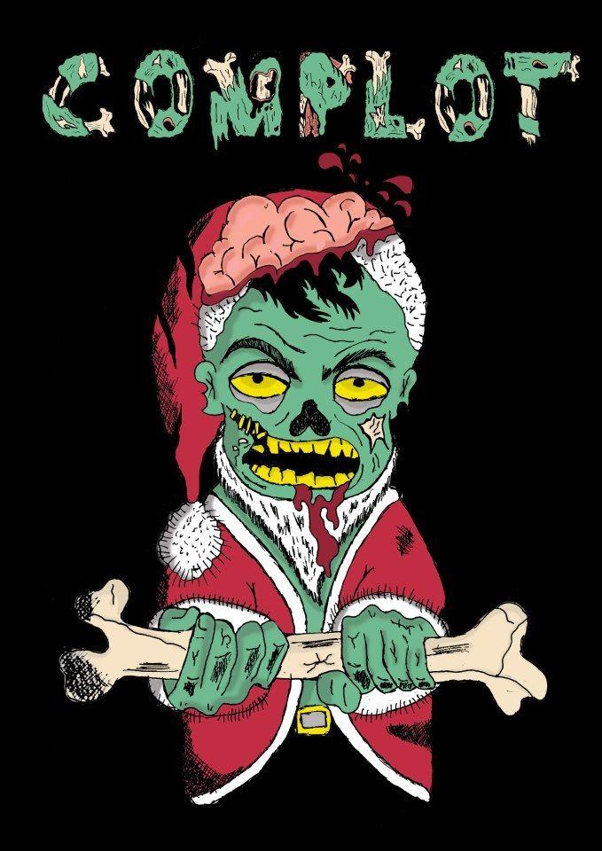 Ilustración, zombi santa