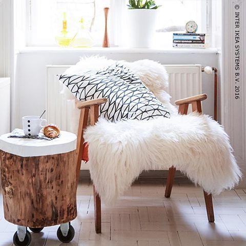 Over herfstsfeer gesproken 🍃🍂 #IKEAidee Idee voor nachtkastje!!