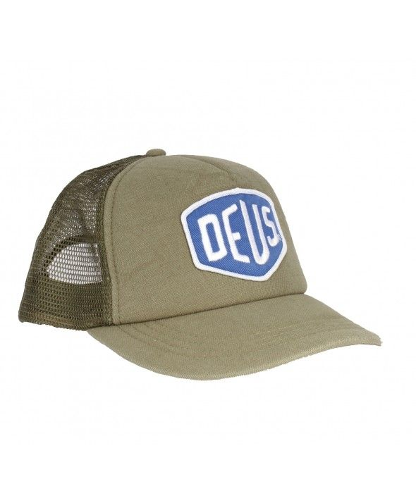 Deus Shield Trucker Cap Olive Deus Ex Machina Cap
