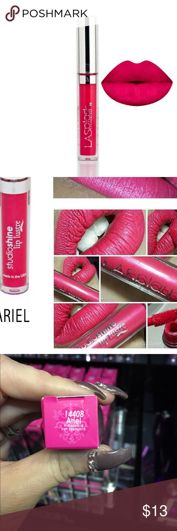 LA SPLASH STUDIO SHINE IN COLOR ARIEL Fairy tales do come true with LA SPLASH fairy dusted waterproof StudioShine Lip Lustre. Specially formulated with the highest quality pigments & pearls. To activate pearls, gently run finger across lips.  ASK ME TO BUNDLE YOUR FAVORITES! LA SPLASH Makeup Lipstick