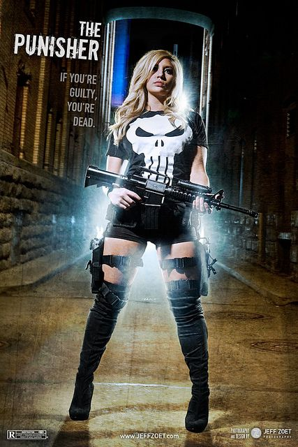 Punisher female cosplay by Jeff Zoet