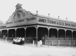 Staff from the James Stewart Drapery store at Mount Morgan, Queensland, ca.1917