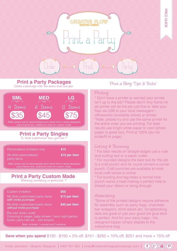 Price and tip guide :)