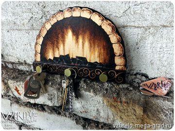 """Ключница деревянная """"Очаг"""". - изделия из дерева, дизайнерские принадлежности для прихожей.  авторская ручная работа, vzbrelo, , взбрело, выжигание, деревянная вешалка, деревянная ключница, для дома, для интерьера, для ключей, домашний очаг, интерьерные вещи, ключница, оригинальная ключница, очаг, пирография, семейный очаг, тёплые вещи, теплые вещи, уютные вещи, #ключница #вешалка #крючки #очаг #дом #уют #интерьер #длядома #woodburn #woodburning #pyrpgraphy #уютныевещи #семейныйочаг"""