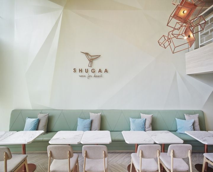 shugaa dessert bar by partyspacedesign bangkok thailand retail design design blogscafe designinterior - Beaded Inset Restaurant Interior
