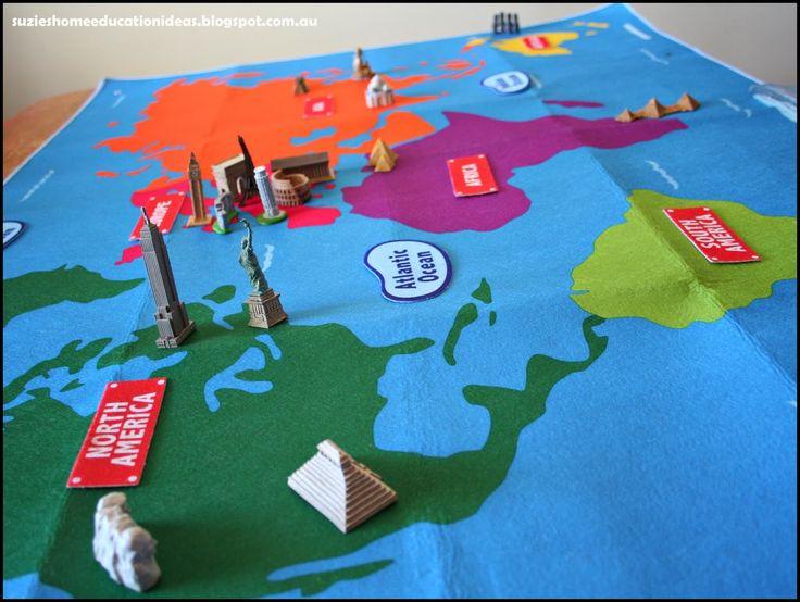 25 best world landmarks images on pinterest continents day care exploring world landmarks free printable montessori world landmark cards gumiabroncs Images