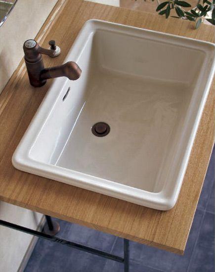 イブキクラフト/エッセンス|Lレクタングル洗面器(ブランカ)