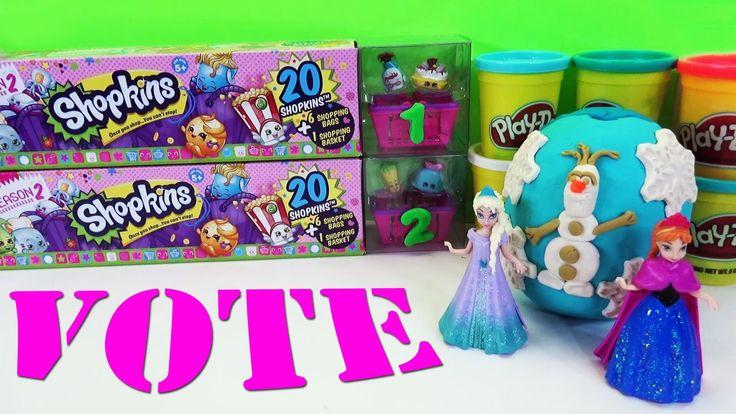 www.youtube.com/user/disneytoybox?sub_confirmation=1 Huge Disney Frozen Play Doh Surprise Eggs like Kinder Surprise ★ Shopkins Mega Pack Vote #Shopkins #Frozen #SurpriseEggs #Toys