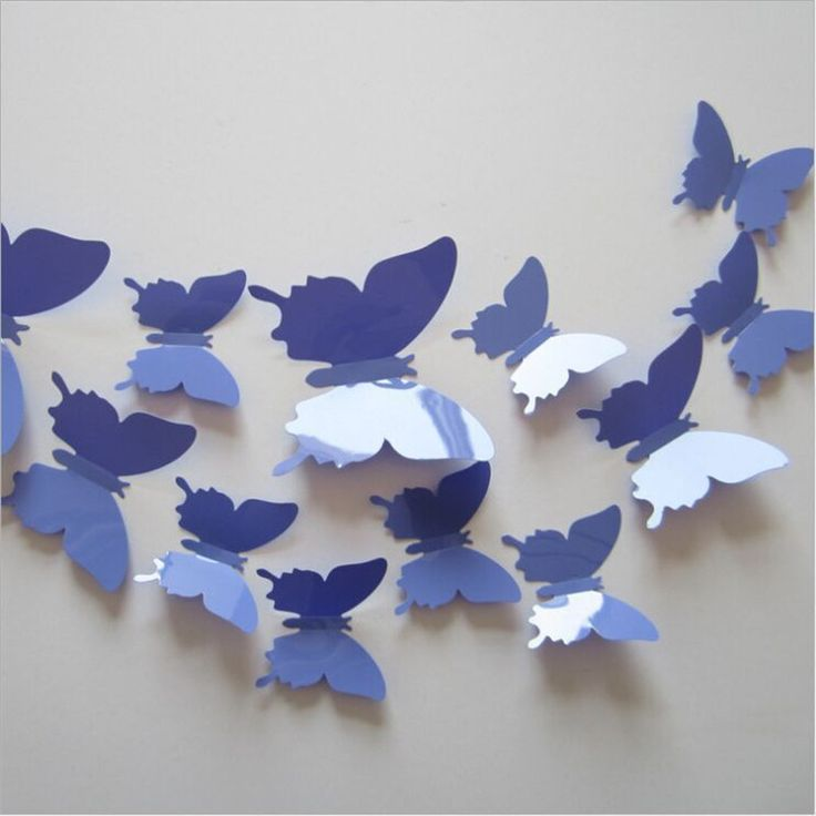 1Set 3D Butterfly Wall Decals Multicolor PVC 3D Butterfly Wall Stickers For  TV Wall Kids Bedroom Wall Home Decoration | Butterfly Wall Stickers, Kid  And TVs Pictures Gallery