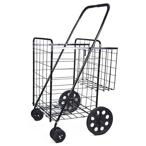 Folding Shopping Cart : $21.29 + Free S/H (reg. $42.58)  http://www.mybargainbuddy.com/folding-shopping-cart-21-29-free-sh