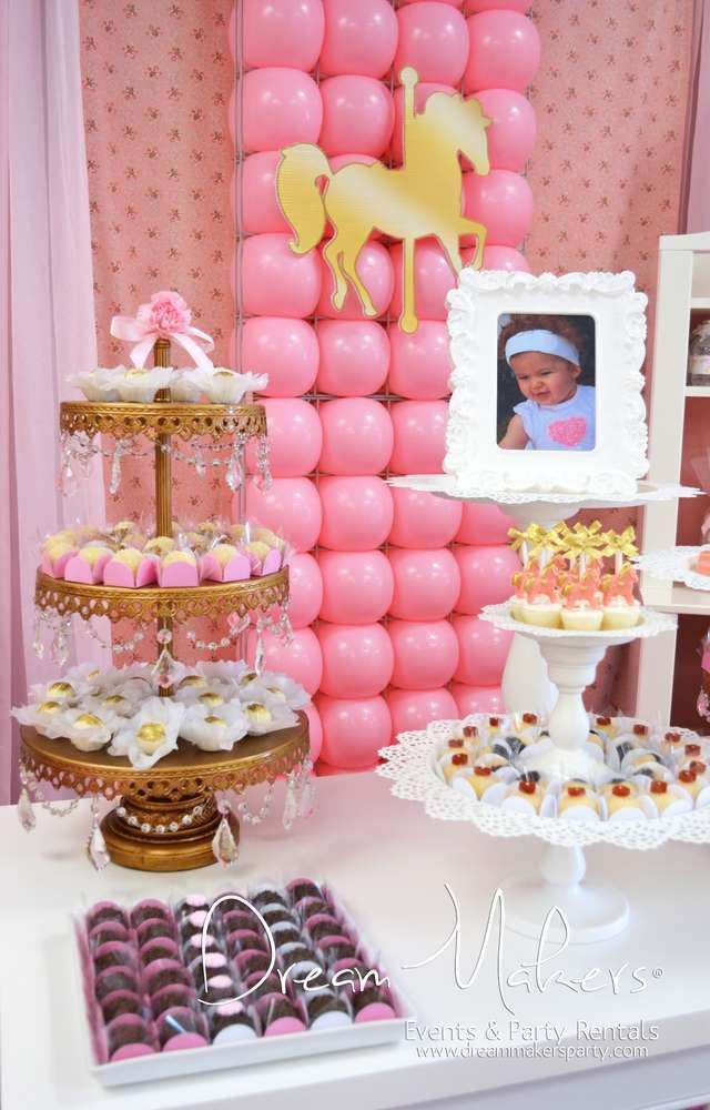 Carousel Birthday Party Ideas | Photo 9 of 35 | Catch My Party