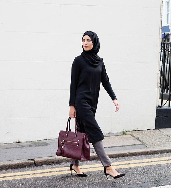 Black Crepe Midi Dress - Inayah, Islamic Clothing & Fashion, Abayas, Jilbabs, Hijabs, Jalabiyas & Hijab Pins