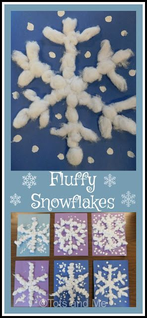 Littles Learning Link Up: January 9, 2018- Fluffy Snowflakes
