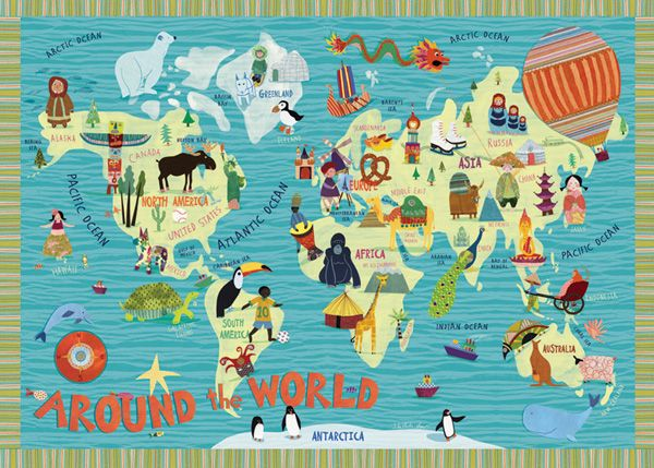 I think this would be great for kindergarten. It would help give them a broad overview of things around the world in terms they can relate to. 8802